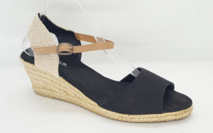 Women′s Canvas Espadrille Wedge Fashion Sandals pictures & photos
