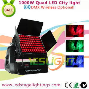 1000W LED City Color Light 96PCS*10W RGBW 4in1 LEDs for Outdoor Decoration DMX Wireless pictures & photos