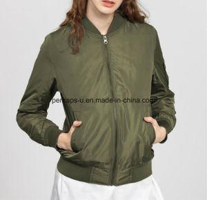 Simple Fashion Thick Windproof Multi - Pocket Cotton Women Jacket pictures & photos