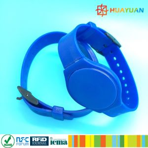 Programmable Printable Logo Contactless Plastic RFID Wristband pictures & photos