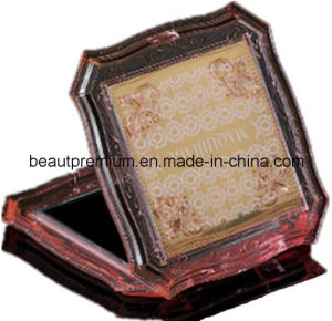 Pink Transparent Acrylic Make up Mirror L′oreal Audit Square Cosmetic Mirror BPS031 pictures & photos