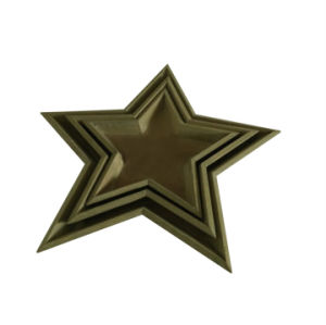 New Style Handicraft Christmas Tree Decoration Wooden Star