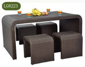 Rattan Wicker Garden Table Chair Set pictures & photos