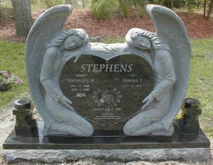 Granite Angel Headstone Double Angel Memorial Angel Cemetery for American Style pictures & photos