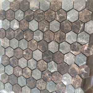 Hot Sell Hexagon Marble Tile Stone Mosaic Floor Tile pictures & photos