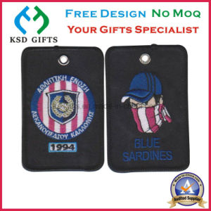 Blue Sardines Customized Cheap Embroidered Patch Key Holder pictures & photos