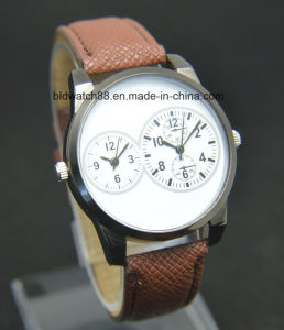 Gift Watch Classic Round Case Dual Time Watch for Men pictures & photos