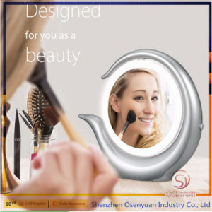 2017 High Quality Desktop Makeup Popular LED Double Sides 1X/7X Makeup Mirror Lighted pictures & photos