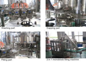 SGS BCGF72-72-18 Glass Bottle Beer Washing Filling Capping 3-in-1 Machine pictures & photos