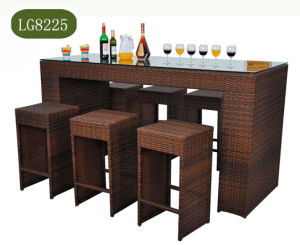 Rattan Dining Table Set with Six Chair pictures & photos