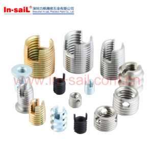 Three Hole Thick Wall Type Self Tapping Screwthreaded Inserts M3-M5 pictures & photos