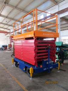 Stationary Hydraulic Scissors Lift (Double Scissors) Sjgd0.5-2.8 pictures & photos