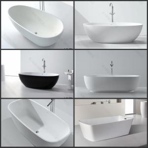 China resin stone good price freestanding bathtub china for Freestanding stone resin bathtubs
