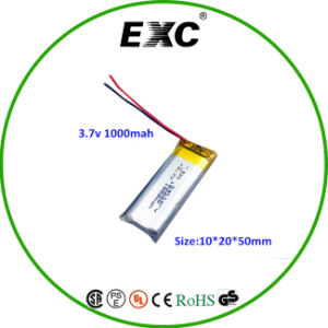 3.7V Rechargeable 1000mAh Lipo 102050 Polymer Battery pictures & photos