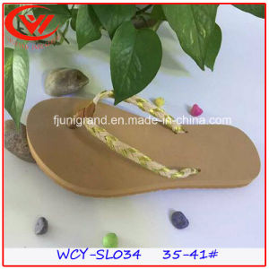 Top Sale Ladies Slipper Summer Women Flat Heel Flip Flops pictures & photos