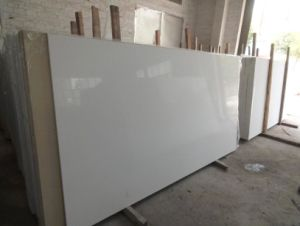 Polished White Quartz Artificial Stone Slab pictures & photos