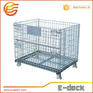 Collapsible Stackable Heavy Duty Wire Mesh Container