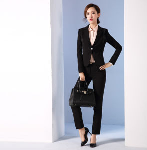 Made to Measure Fashion Stylish Office Lady Formal Suit Slim Fit Pencil Pants Pencil Skirt Suit L51615 pictures & photos