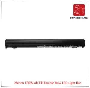 LED Car Light of 28 Inch 180W 4D ETI Double Row LED Light Bar Waterproof for SUV Car LED off Road Light and LED Driving Light pictures & photos