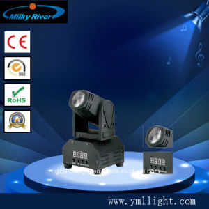 13channel 1*10W 4in1 Single White Moving Head Beam Light pictures & photos
