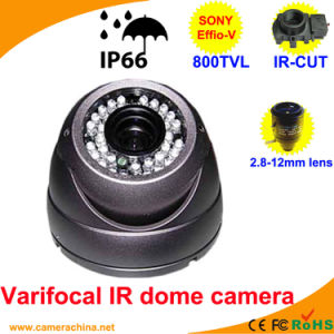 Varifocal IR Dome Sony 800tvl Color IR CCD Camera pictures & photos