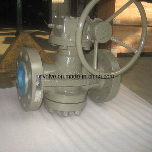 900lb Cast Steel Wcb Worm Gear Flange End Plug Valve pictures & photos