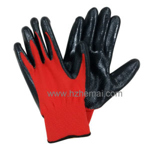 Palm Coated Nitrile Gloves Ladies Gardening Gloves Work Glove pictures & photos