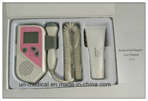 LCD Screen Portable Pocket Fetal Heart Rate Doppler pictures & photos