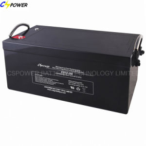 12V250ah Deep Cycle/Solar Gel Battery with Long Life Design Cg12-250 pictures & photos