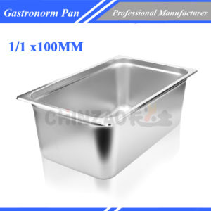 1/1 Size Anti-Jam Stainless Steel Steam Table Pan/ Stainless Steel Gastronorm Pan pictures & photos