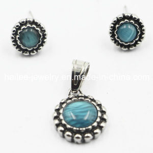 China Wholesale 316L Opal Jewelry Sets Earrings Pendant pictures & photos