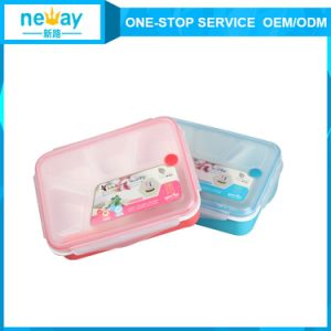 High Quality Cartoon Portable Plastic Food Container Lunch Box pictures & photos
