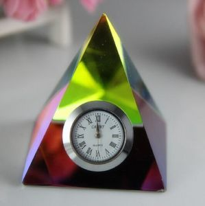Crystal Clock/Watch Pyramid for Home Decoration Gift pictures & photos