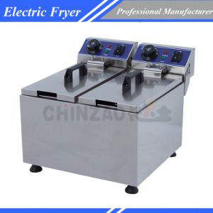 Commercial Twin Deep Fryer Electric Tank Dzl-062b pictures & photos