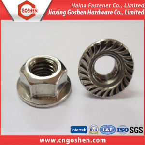 Stainless Steel 304 Hex Flange Nut, DIN 6923 pictures & photos