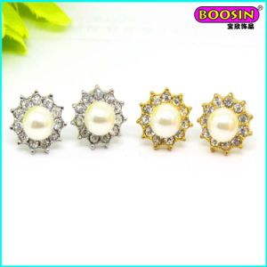 New Fashion Custom Made Wholesale Gold Pearl Stud Earring pictures & photos