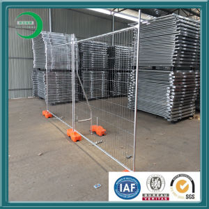 High Security Temporary Fence Panel with Plastic Concrete Block pictures & photos