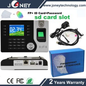 Hot Selling P2p Biometric Fingerprint Time Recorder with SD Card Slot, RFID Card Reader pictures & photos