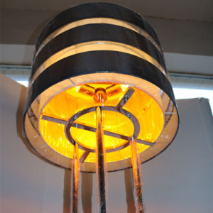 European Hotel Decorative Amber Fiber Iron Floor Lamp pictures & photos