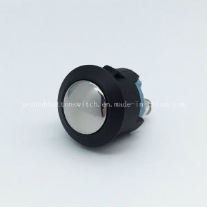 16mm Plastic Black Body Stainless Button Push Button Switch pictures & photos