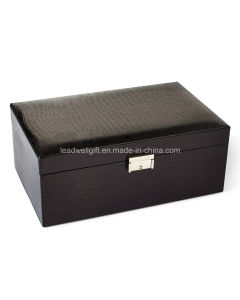 Black Leather Jewelry Case pictures & photos