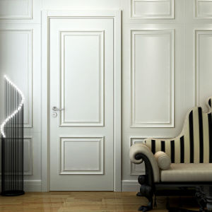 Oppein Modern Fashion White MDF Swing Interior Wooden Door (MSPD49) pictures & photos