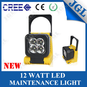 Square Pod Style 12W CREE LED Work Light Rechargeable