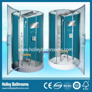 Deluxe Blue Color Computerized Shower Room with Towel Bar and Seat (SR217G)