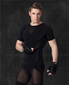 Mens Body Shaper Short Sleeve T-Shirts pictures & photos