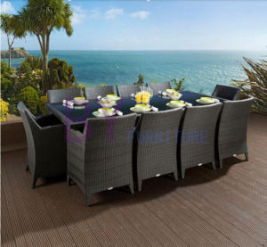 Modern Rattan Dining Table and Chairs Set Used Outdoor Furniture pictures & photos