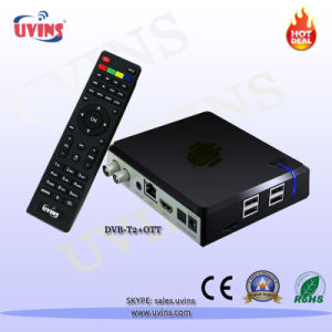 DVB-T2 Andriod TV Quad-Core Android4.4 Ott STB Receiver pictures & photos