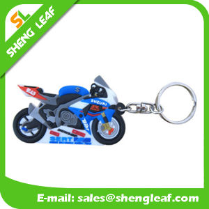 Custom 3D Motorcycle Soft PVC Rubber Key Chain Promotion (SLF-KC001) pictures & photos
