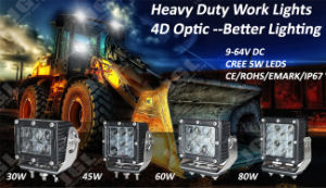 60W Heavy Duty CREE LED Truck Light 12V LED Work Light pictures & photos