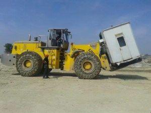 Big Tonnage Block Handler Forklift Wheel Loader pictures & photos